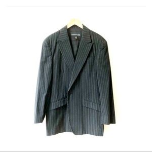 KENNETH COLE black pinstripe 100% cotton blazer